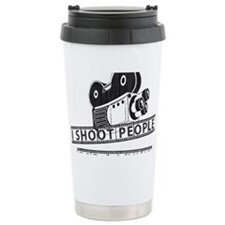 I Shoot People-Black with cam Travel Mug