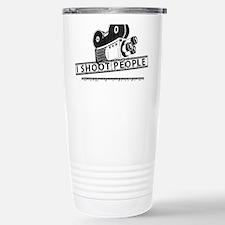 I Shoot People-Black with cam Travel Mug