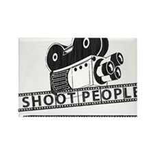 I Shoot People-Black with cam Rectangle Magnet