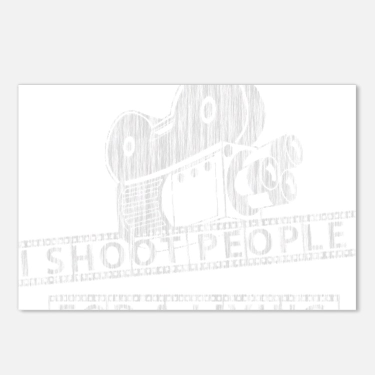 I Shoot People-white with Postcards (Package of 8)