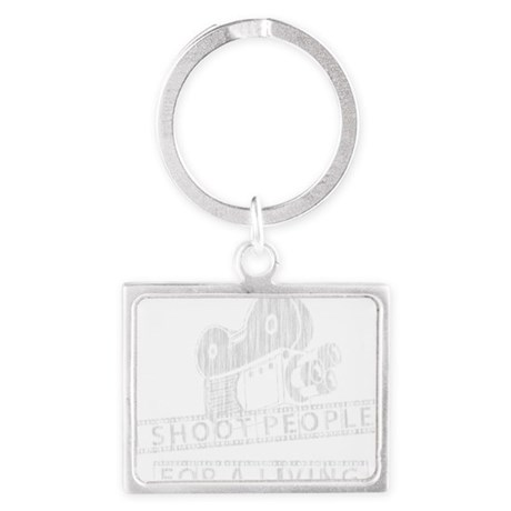 I Shoot People-white with cam Landscape Keychain