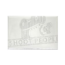 I Shoot People-white with cam Rectangle Magnet