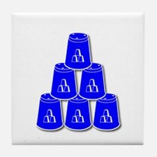 24-7 every day, white  blue2 Tile Coaster