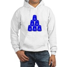 24-7 every day, white  blue2 Hoodie
