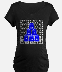 24-7 every day, white  blue T-Shirt