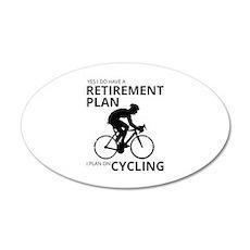 Cyclist Retirement Plan Wall Sticker