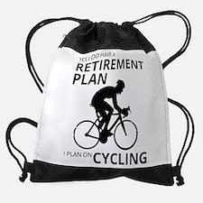 Cyclist Retirement Plan Drawstring Bag