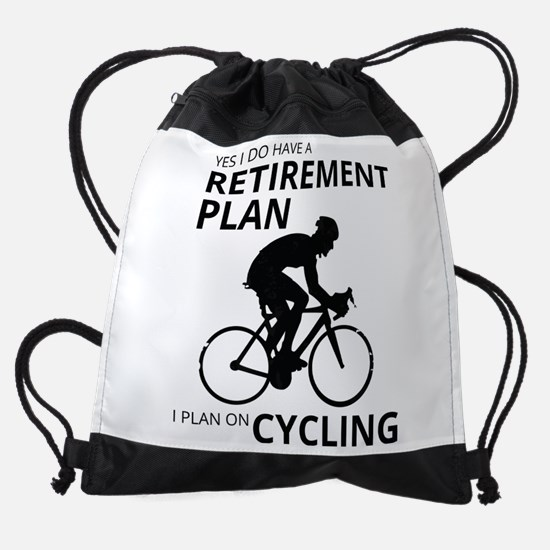 Cyclist Retirement Plan Drawstring Bag