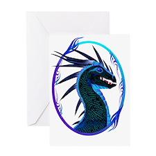 Black Dragon Framed Trans Greeting Card