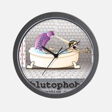 Ablutophobia Wall Clock