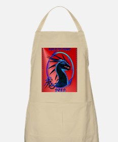 Black Dragon Year Of The Dragon PosterP Apron