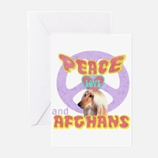 PEACE LOVE and AFGHANS Greeting Cards (Package of