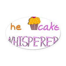 The cupcake whisperer PINK ORANGE Oval Car Magnet