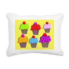 cupcake puzzel Rectangular Canvas Pillow