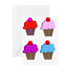 cupcakes 4 Greeting Card