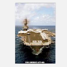 america cv framed panel p Postcards (Package of 8)