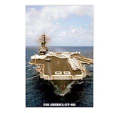 america cv large framed p Postcards (Package of 8)