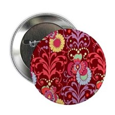 "Paradise Garden Wine 2.25"" Button"