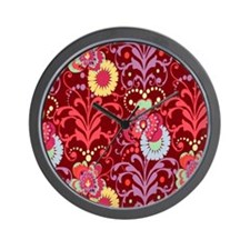 Paradise Garden Wine Wall Clock