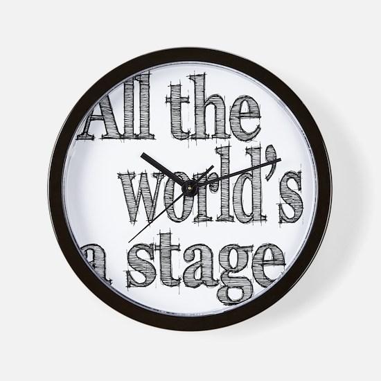 all the world light Wall Clock