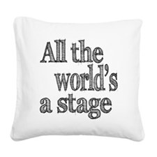 all the world light Square Canvas Pillow