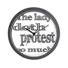 doth protest light Wall Clock