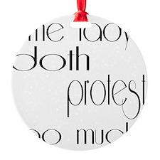 doth protest romantic light Ornament