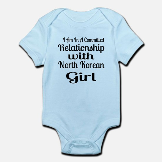 I Am In Relationship With Nort Baby Light Bodysuit
