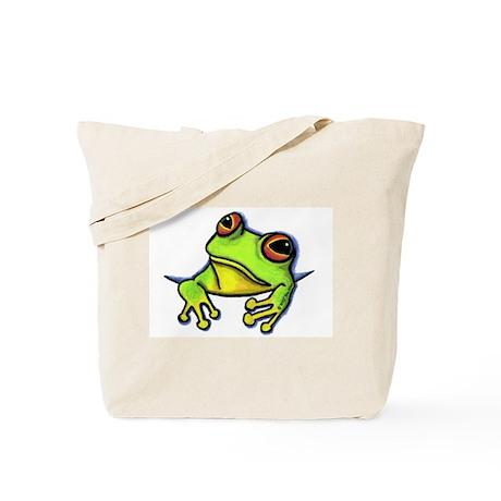 Pocket Frog Tote Bag