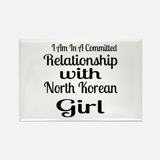 I Am In Relationship With North K Rectangle Magnet