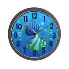 Tropical Paradise Fish Wall Clock