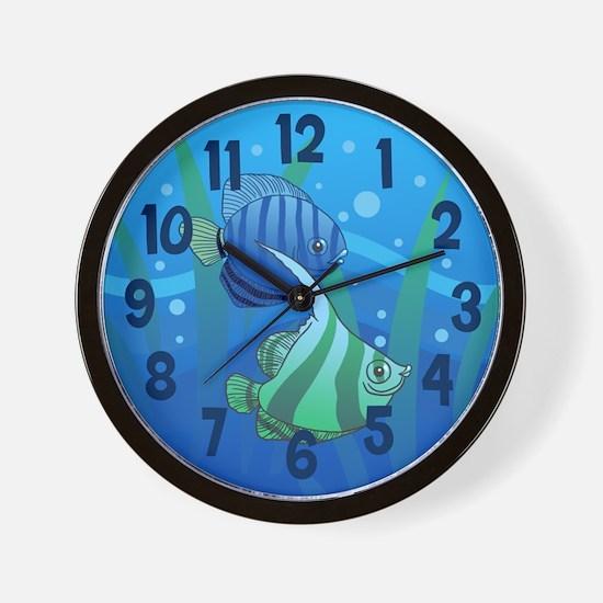 Tropical Paradise Fish Wall Clock