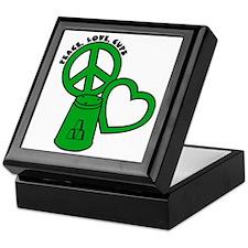 green PL Cups Keepsake Box