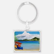 Serene Sulawesi b shirt Landscape Keychain