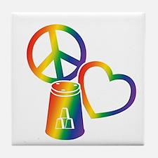 rainbow 2 PL Cups Tile Coaster