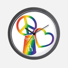 rainbow 2 PL Cups Wall Clock