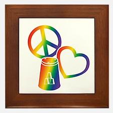 rainbow 2 PL Cups Framed Tile