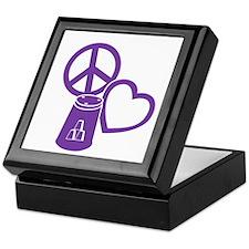 purple 2 PL Cups Keepsake Box