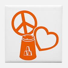 orange 2 PL Cups Tile Coaster