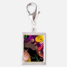 A Kiss at Mardi Gras with MG Silver Portrait Charm