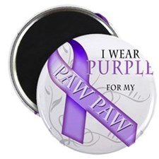I Wear Purple for my Paw Paw Magnet