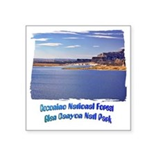 "Lake Powell - Glen Canyon Square Sticker 3"" x 3"""