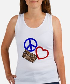 blue red, wh PL Bacon Women's Tank Top