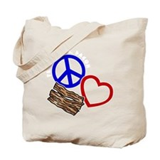 blue red, wh PL Bacon Tote Bag