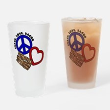 blue red, PL Bacon Drinking Glass