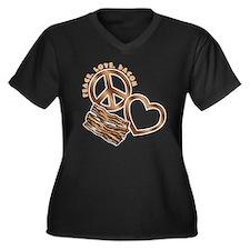 browns, wh P Women's Plus Size Dark V-Neck T-Shirt