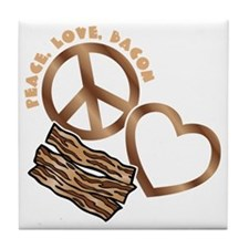 browns, wh PL Bacon Tile Coaster