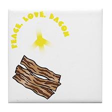 white, wh PL Bacon Tile Coaster