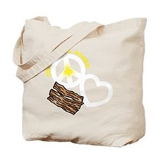 white, wh PL Bacon Tote Bag