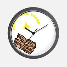white, wh PL Bacon Wall Clock